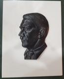 WWII Adolf Hitler Bronze Bust Berlin Headquarters