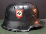 WWII German M1934 Double Decal Fire/Police Helmet