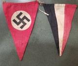 WWII German Pennants from Battle of Bulge