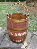 Antique Delta Airlines Wood Well Bucket