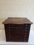 Late 1880s Checkerboard Spool Cabinet