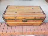 Antique Small Flat Top Trunk