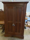 Heart Pine Flatwall Cabinet