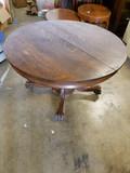 Antique Tiger Oak Round Table
