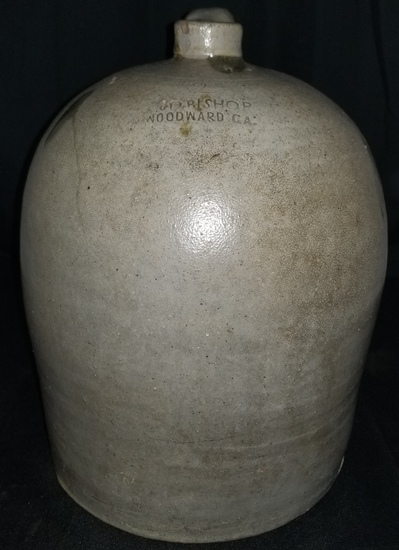 Rare JD Bishop, Woodward, GA jug