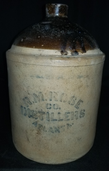 R.M. Rose Atlanta Liquor jug
