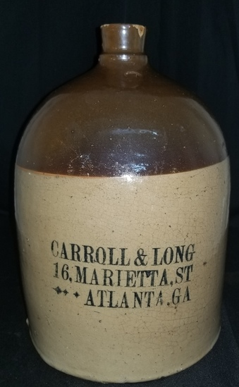 Scarce Carol & Long Atlanta Liquor Jug
