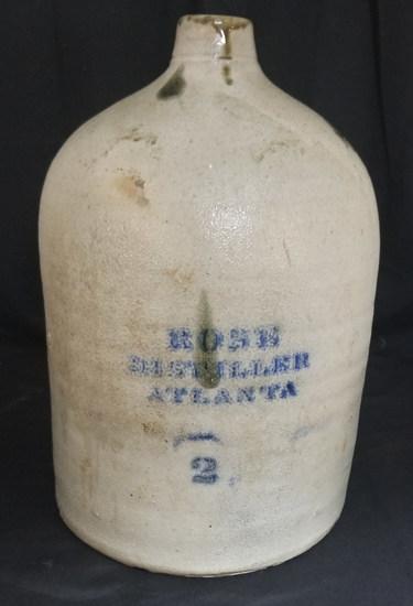 Great C.H. Bird R.M. Rose Two Gallon Atlanta Jug