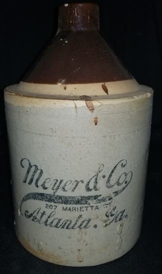 Scarce Meyer & Co. Atlanta Liquor Jug