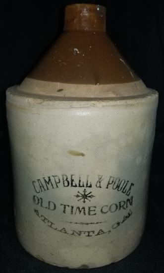 Campbell & Poole Old Time Corn Liquor Jug Atlanta