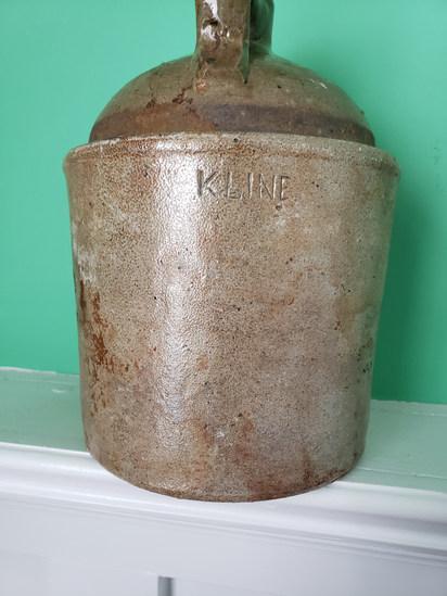 Signed C. Kline Half Gallon jug Mint
