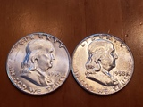 2- Franklin Half Dollars