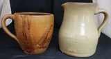 Alabama Jerry Brown Pottery Lot of Two Pieces