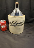 M. Salzman Co. New York Stenciled Liquor Jug