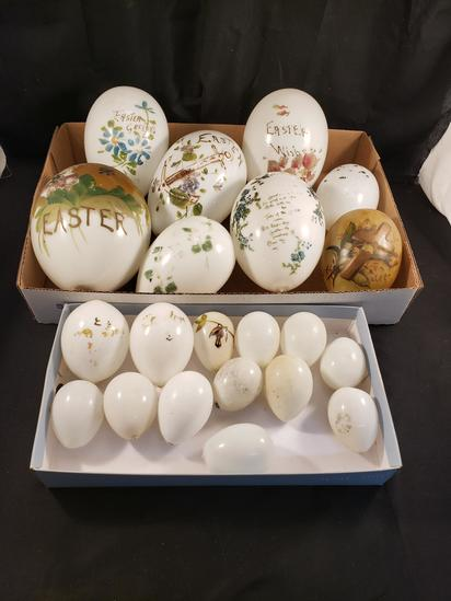 Victorian Milk Glass Easter Eggs