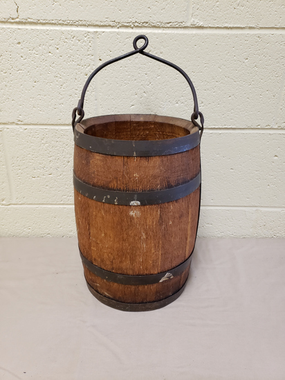 Antique Wood Well Bucket
