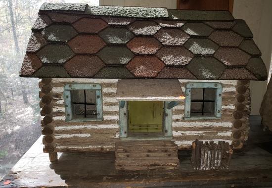 Early 1900s Log Cabin Dollhouse