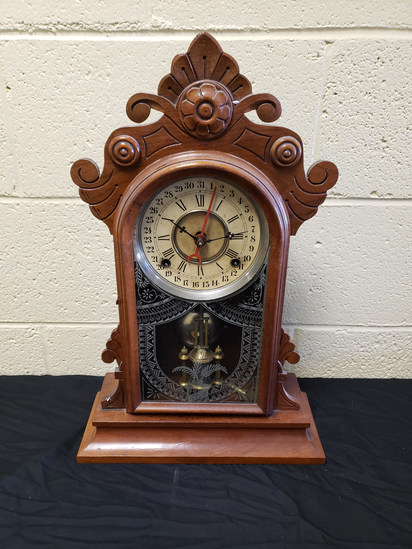 Antique Gilbert Calendar Clock