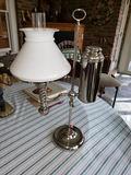 Mid 1800s Chrome Student Lamp