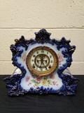Ansonia Porcelain Mantel Clock