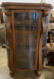 Antique Empire Bow Front China Cabinet
