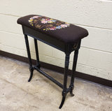 Antique Sewing Bench with needle point cover