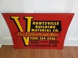 1960's Huntsville Building Material Sign