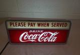 1950's Coca Cola Light Up Sign