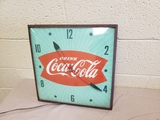 1950's Coca Cola Fishtail Clock