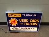 OK Used Cars & Trucks Lightup Sign
