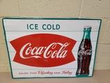 NOS 1950's Coca Cola Fishtail Sign