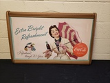 1950's Coca Cola Ad in Key Display Frame