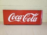 1950's Coca Cola Porcelain 4' Sled Sign