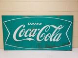 RARE Green Coca Cola Fishtail Sign