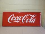 1950's Coca Cola Porcelain 5' Sled Sign