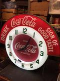 Coca Cola Neon Rocker Clock