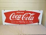 1950's Coca Cola Fishtail Sled Sign
