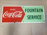 1950s Coca Cola Fountain Service Sign