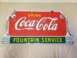 1941 Coca Cola Fountain Service Sign