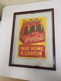 1948 Coca Cola Take Home a Carton Sign
