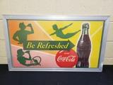 1950s Coca Cola Ad in Aluminum Frame