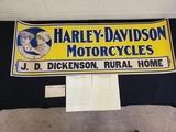 NOS 1915 Harley Davidson Sign