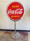 1941 Coca Cola Lollipop Sign
