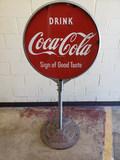 1940s Coca Cola Lollipop Sign