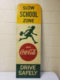 1950s Coca Cola School Zone Sign