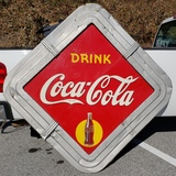 1940s Coca Cola Yellow Dot with Frame