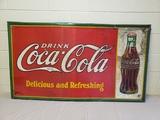 1932 Coca Cola Christmas Bottle Sign