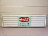 1964 Coca Cola Menu Board