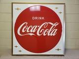 1950s Coca Cola Button and Stars Sign
