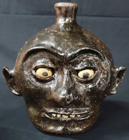 Early Lanier Meaders Rock Tooth Face Jug